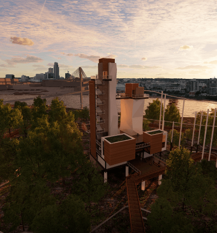 River's Edge Observation Tower Conceptual Rendering